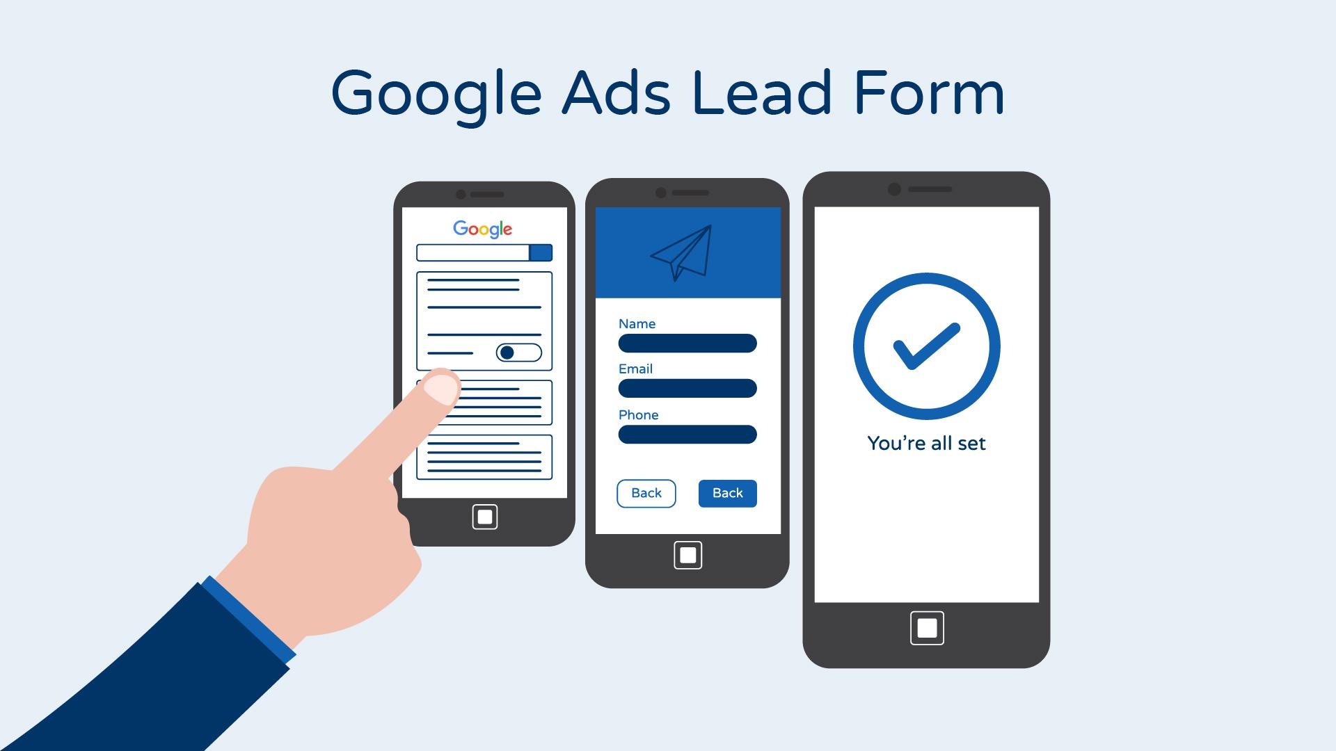 google lead form